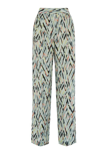 Warehouse, ZIG ZAG PRINT TROUSERS Multi 0