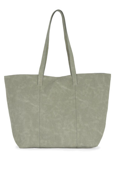 Warehouse, Embossed Croc Shopper Bag Light Grey 0