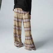 Warehouse, CHECKED WIDE LEG TROUSERS Multi 1