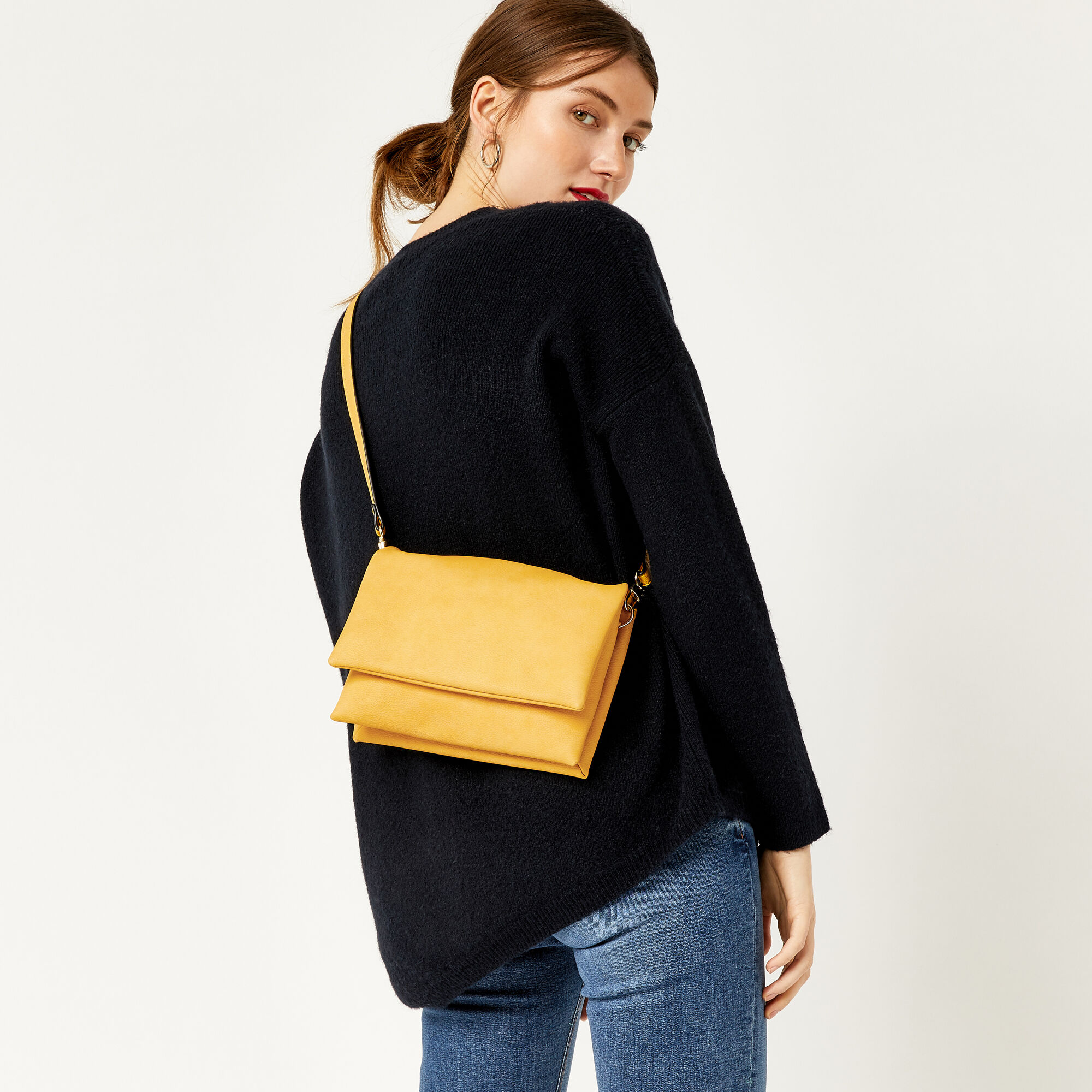 Warehouse, DOUBLE COMPARTMENT CROSSBODY Yellow 1