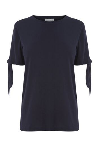 Warehouse, TIE SLEEVE TEE Navy 0