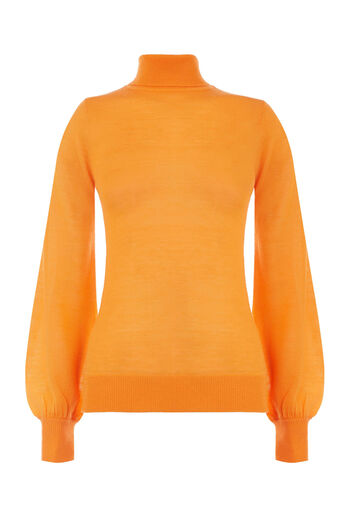Warehouse, BLOUSON SLEEVE JUMPER Orange 0