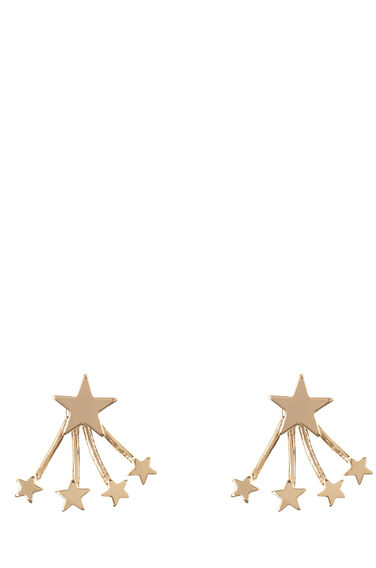 Warehouse, Multi Star Swing Earrings Gold Colour 0