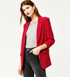 Warehouse, ROUCHED SLEEVE JACKET Dark Red 1
