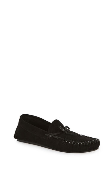 Warehouse, LEATHER DRIVING SHOE Black 0
