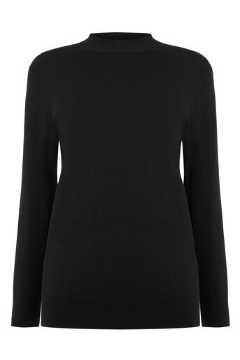Warehouse, FUNNEL NECK JUMPER Black 0