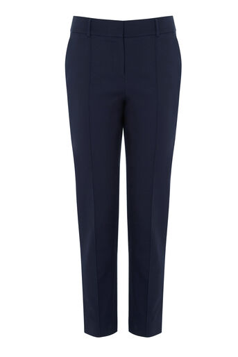 Warehouse, COMPACT COTTON TROUSERS Navy 0