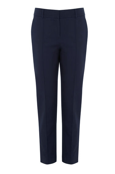 Warehouse, COMPACT COTTON TROUSER Navy 0