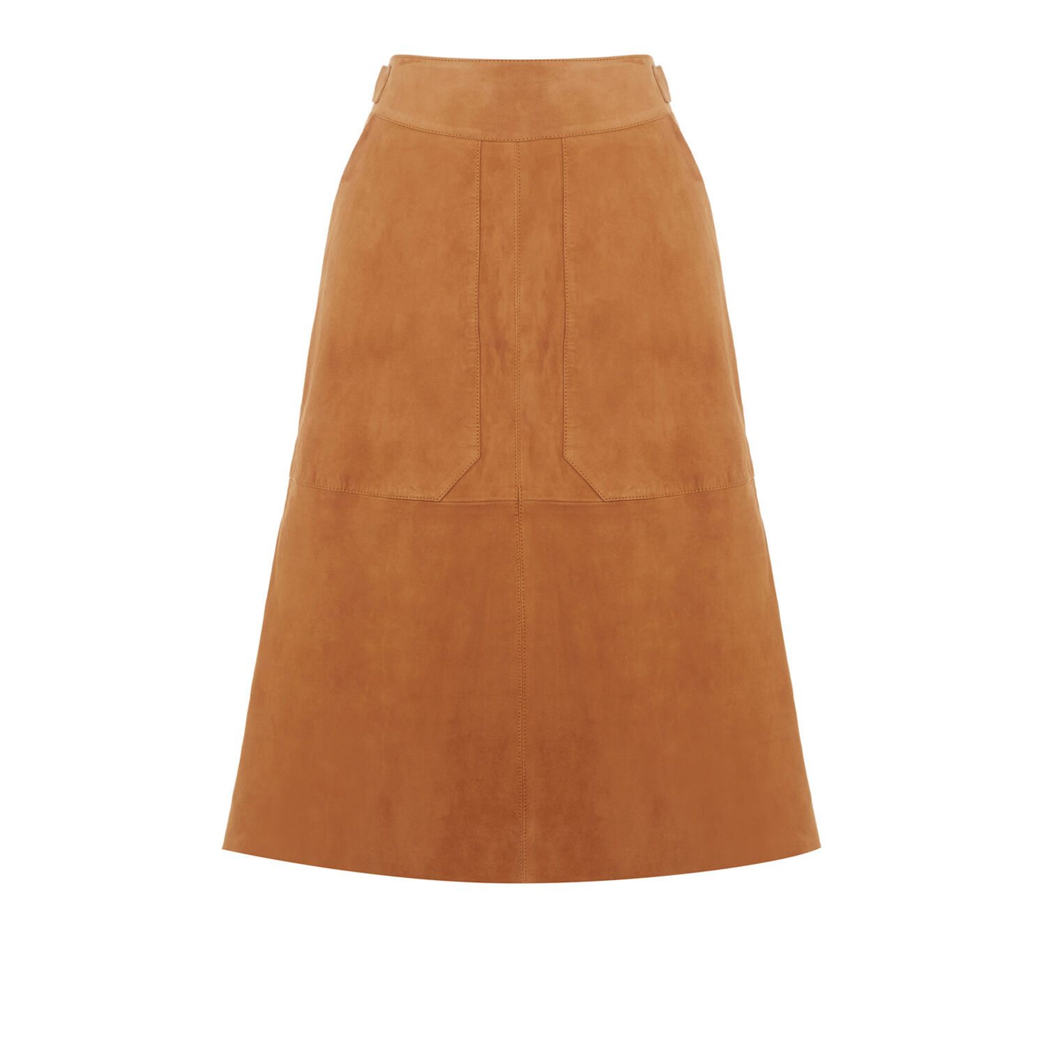 suede midi skirt warehouse
