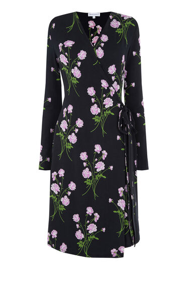 Warehouse, ENGLISH ROSE WRAP DRESS Multi 0