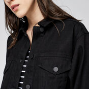 Warehouse, Long Denim Jacket Black 4