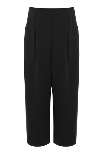 Warehouse, SOFT PLEATED CULOTTES Black 0