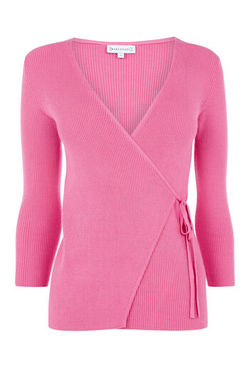 Warehouse, BALLET WRAP TIE SIDE JUMPER Bright Pink 0