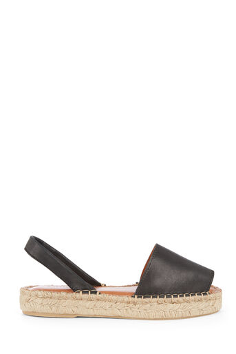 Warehouse, 2 PART ESPADRILLE SANDAL Black 0