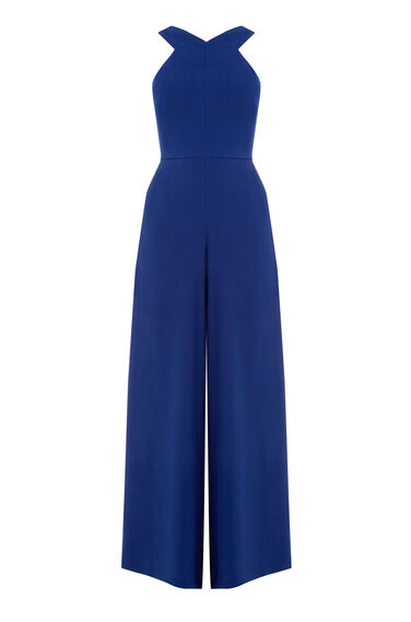 Warehouse, WIDE LEG JUMPSUIT Bright Blue 0