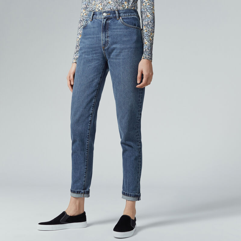 Warehouse, Pin Up Jeans Mid Wash Denim 1