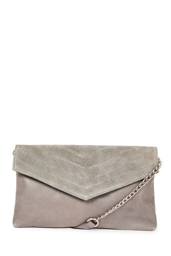 Warehouse, LEATHER QUILTED CROSSBODY BAG Dark Grey 0