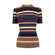 Warehouse, Stripe Ribbed Top Multi 0