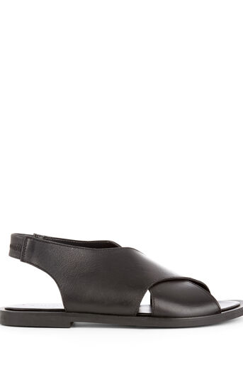 Warehouse, CROSS OVER SANDAL Black 0