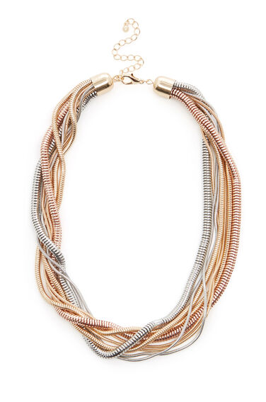 Warehouse, SNAKE CHAIN TWIST NECKLACE Gold Colour 0