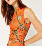 Warehouse, SONGBIRD ASYMMETRIC DRESS Orange 4