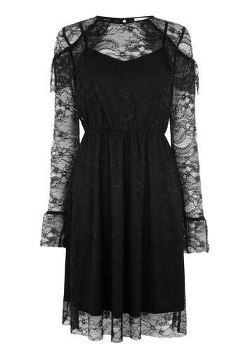 Warehouse, CHANTILLY LACE DRESS Black 0