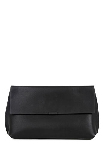 Warehouse, Bonded Clutch Bag Black 0