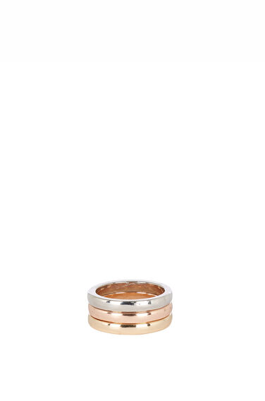 Warehouse, Layered Plain Band Ring Multi 0
