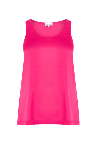 Warehouse, SATIN FRONT VEST Fuchsia 0