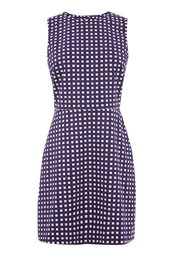Warehouse, GINGHAM OPEN BACK DRESS Multi 0
