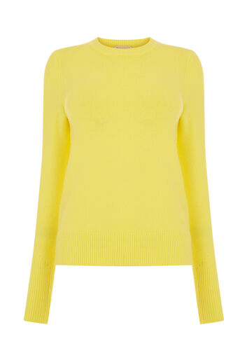 Warehouse, SOFT CREW JUMPER Yellow 0