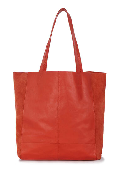 Warehouse, Suede & Leather Unlined Shoppe Bright Red 0