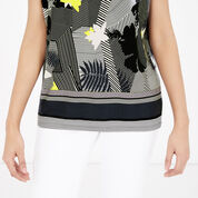 Warehouse, ABSTRACT STRIPE FLORAL TOP Multi 4