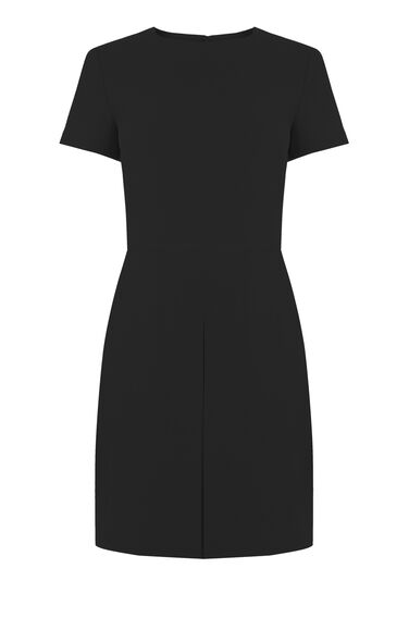 Warehouse, Box Pleat Dress Black 0
