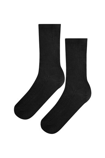 Warehouse, LUXE RIBBED SOCKS Black 0