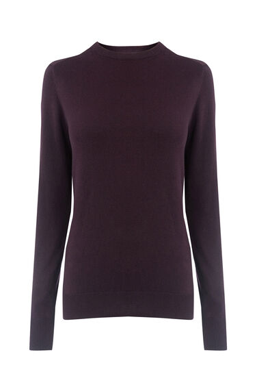 Warehouse, CREW JUMPER Berry 0