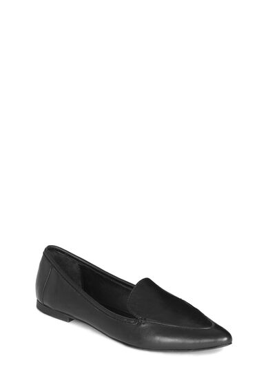 Warehouse, Pointed Loafer Black 0