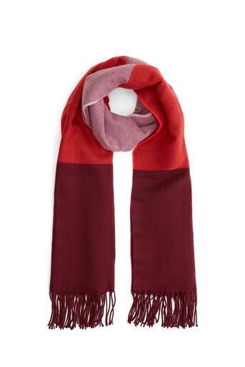 Warehouse, COLOUR BLOCK SOFT SCARF Berry 0
