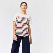 Warehouse, ENGINEERED STRIPE TOP Multi 1