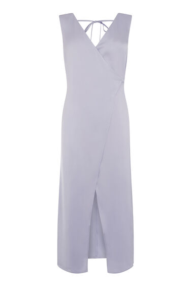 Warehouse, PREMIUM WRAP MIDI DRESS Lilac 0