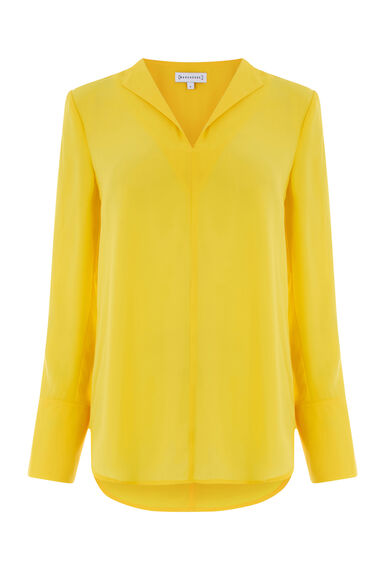 Warehouse, SPLIT SLEEVE PYJAMA TOP Yellow 0