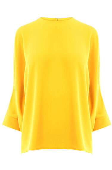Warehouse, SLASH SLEEVE TOP Yellow 0