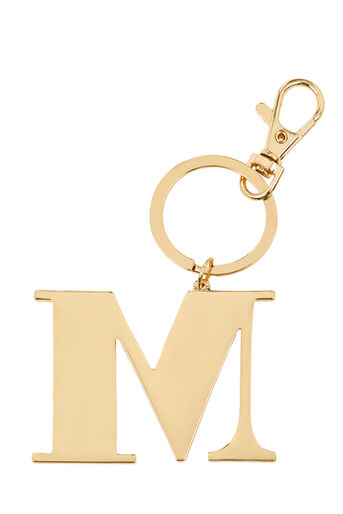 Warehouse, M INITIAL KEYRING Gold Colour 0