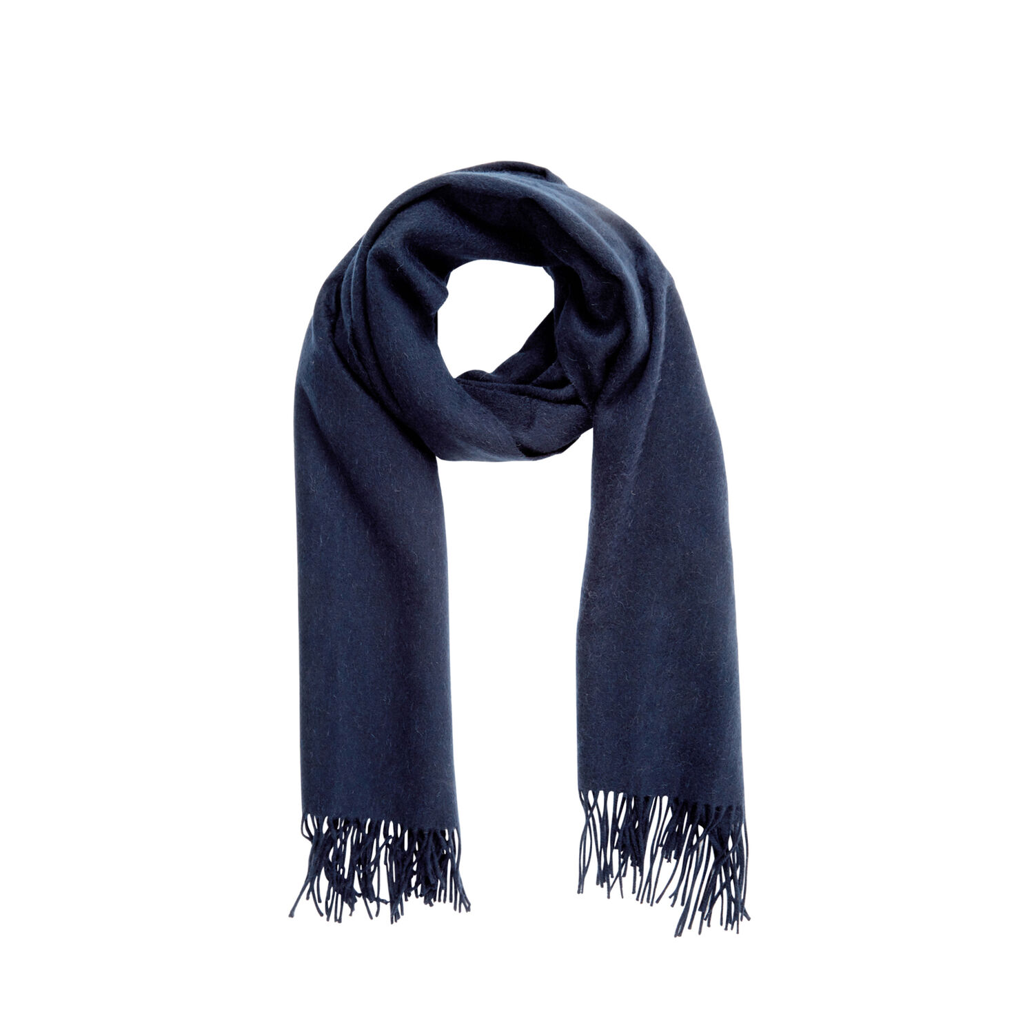 Warehouse, Wool Scarf Navy 1