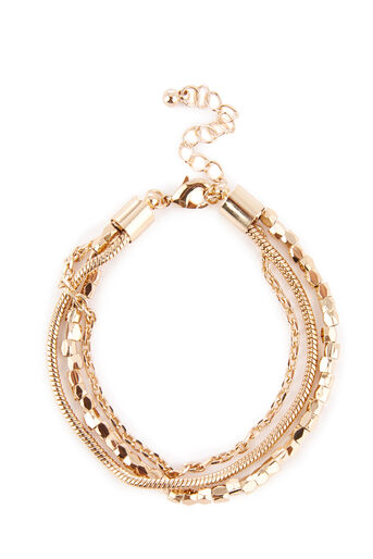 Warehouse, Multi Chain Bracelet Gold Colour 0