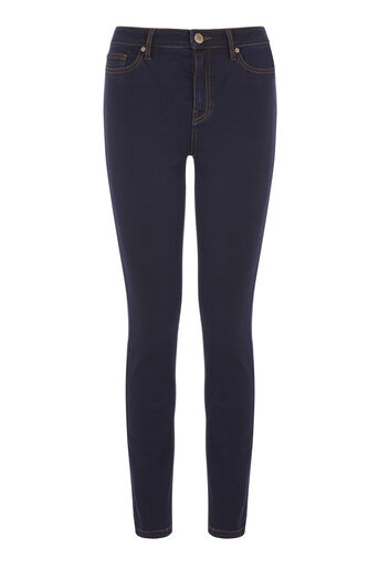 Warehouse, De krachtige skinny jeans Darkwash denim 0