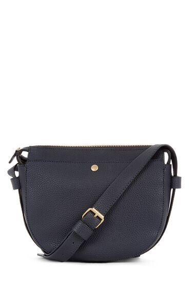 Warehouse, POCKET POPPER SADDLE BAG Navy 0