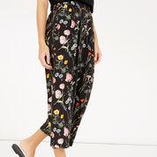 Warehouse, Scatter Floral Culotte Black Pattern 4