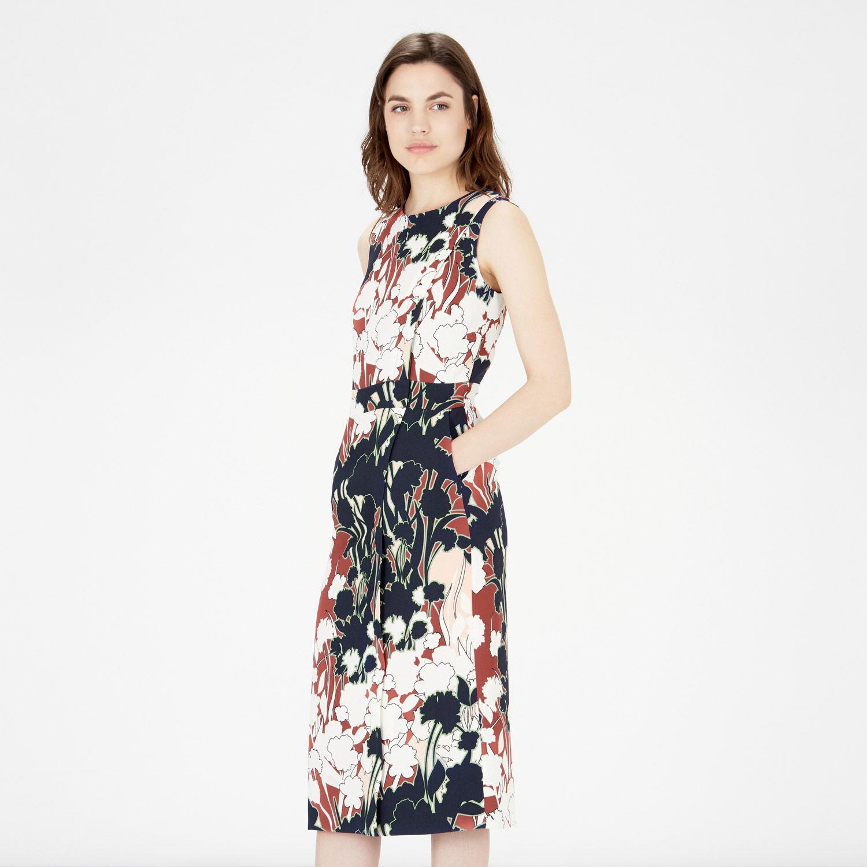 Warehouse, FLORAL PRINT WRAP DRESS Multi 1