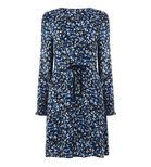 Warehouse, MINI MARIGOLD FLIPPY DRESS Blue Pattern 0